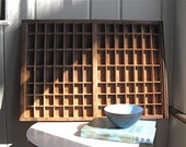 Vintage Wooden Letterpress Drawer Printer's Tray - Rustic Storage and Display