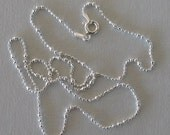 """Optional chain for pendants  - """"Frosted Ball"""" Chain 1.6mm diameter"""