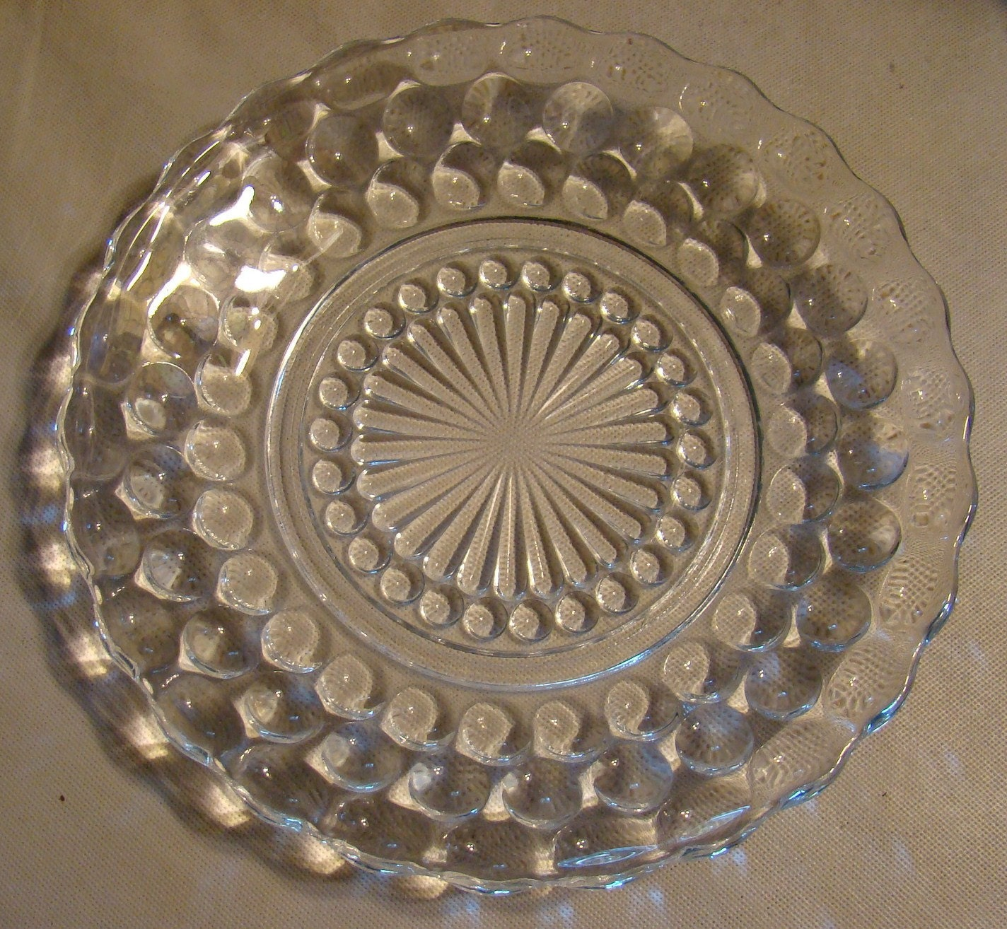 Clear Depression Glass Plates