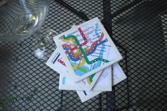 Public Transit Coasters - DC Metro (Set of 4)