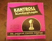 SALE Vintage Kantroll Kindograph Half Round Shaped Crayons from American Crayon Company USA