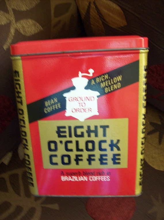 Vintage Eight O Clock Coffee Tin By Kris67 On Etsy