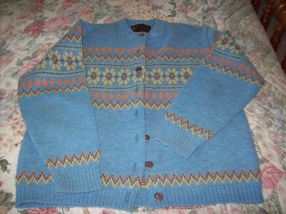 Womans Vintage JERSILD CARDIGAN SWEATER Norwegian Style