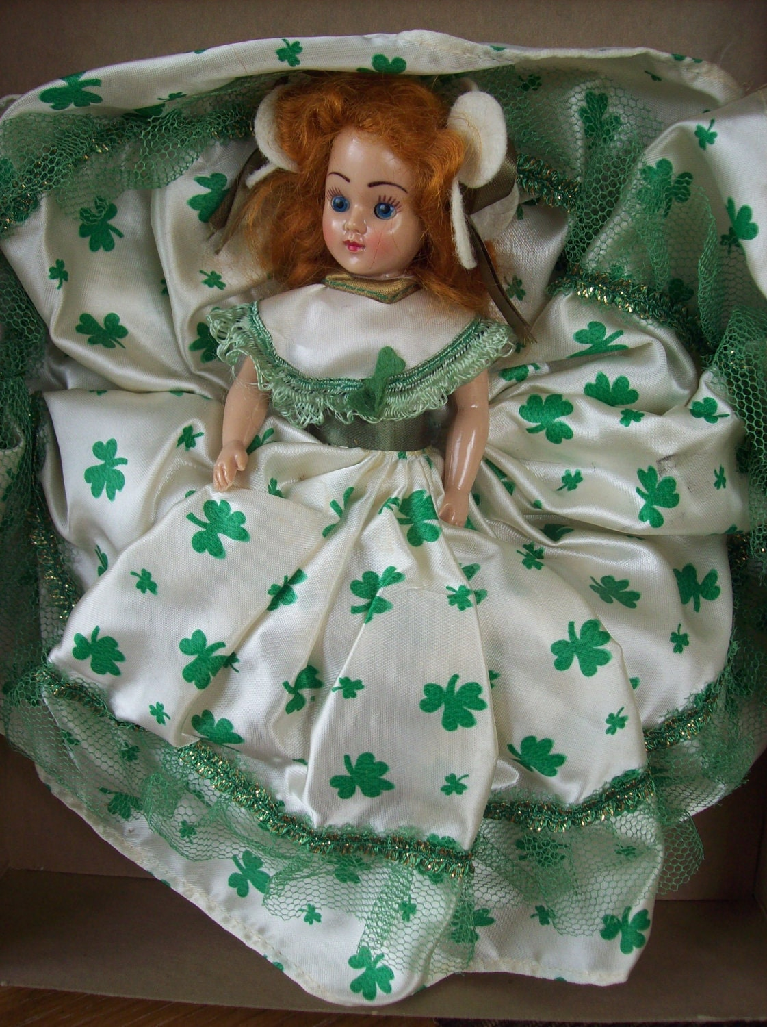 Vintage Melody Irish Doll With Moving Eyes Original Box Never