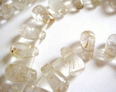 21. Golden Rutilated Quartz 6x11mm Briolette 16 Inches Strand 48pcs Stone Bead