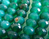 30. Green Agate 4x6mm Faceted Rondelle 16 Inches Strand 101pcs Stone Bead