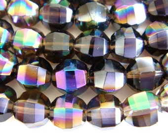 4. Black Rainbow Crystal 6mm Faceted Round 16 Inches Strand 58pcs Stone Bead