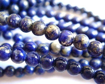 5. Afghanistan Lapis 3mm Round Bead 16 Inches Strand 134pcs Stones Beads