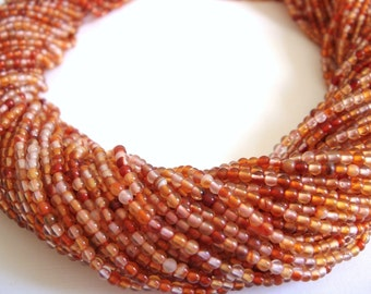 5. Carnelian 2mm Round Bead 16 Inches Strand 188pcs Stones Beads