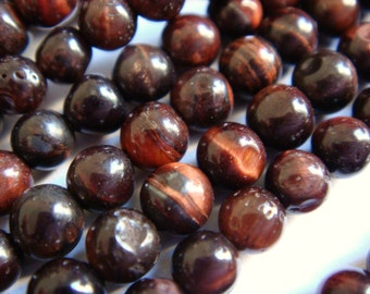 23. Red Tiger Eye 4mm Round Bead 16 Inches Strand 92pcs Stone Bead