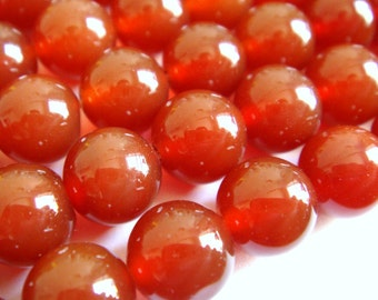11. Carnelian 8mm Round Bead 16 Inches Strand 50 Pcs Stones Beads