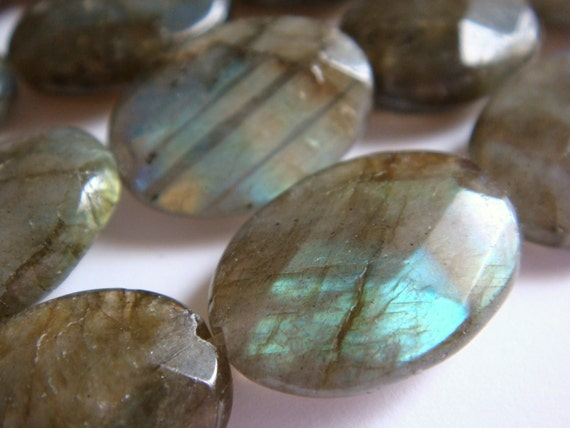 18. Labradorite 13x18mm Faceted Oval Shape 16 Inches 22pcs Stone Bead