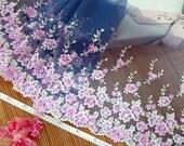 Lace trim, Blue lace, Tulle lace, Net lace, Bridal lace, Lingerie fabric, Mesh fabric, Doll trim, 2 meters BL086