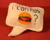 Catnip Cat Toy - I can has cheezburger - speech bubble