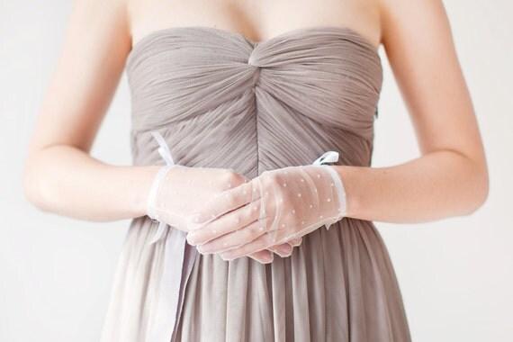 Polka Dot - Bridal Gloves