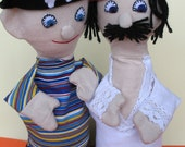 Pirate Puppet Duo ready to pull anchor 2 piece set