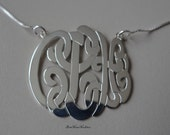 Personalized Monogram necklace or pendant necklace, sterling silver