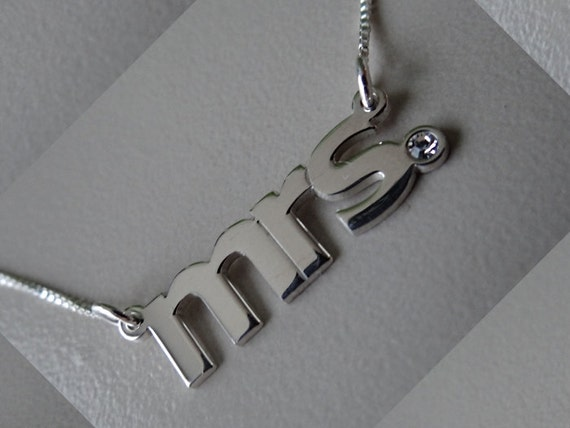 Double Thick All Lower Case Name Necklace with Any Name up to 13 Letters, Swarovski Birthstone crystal- mrs necklace, verdana font