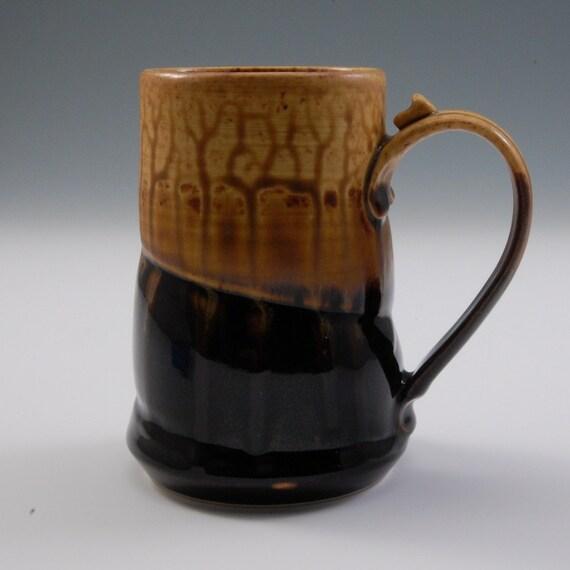Tall Mug - Dark Brown and Golden Brown