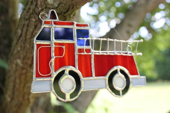 Fire Truck - Stained Glass