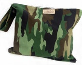 Zippered Wet Bag with Waterproof Lining - Camouflage - FAST SHIPPING