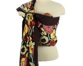 Prestige Ring Sling Baby Sling Baby Carrier - Espresso Blossom - FAST SHIPPING