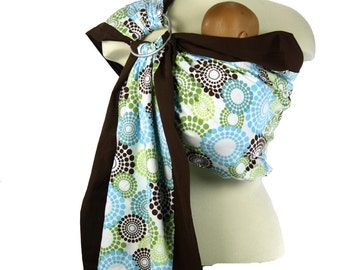 Baby Sling Prestige Ring Sling Baby Carrier - Spa Fizz- Instructional DVD included
