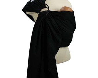 Jet Black Prestige Ring Sling Baby Carrier Baby Sling with Instructional DVD - FAST SHIPPING