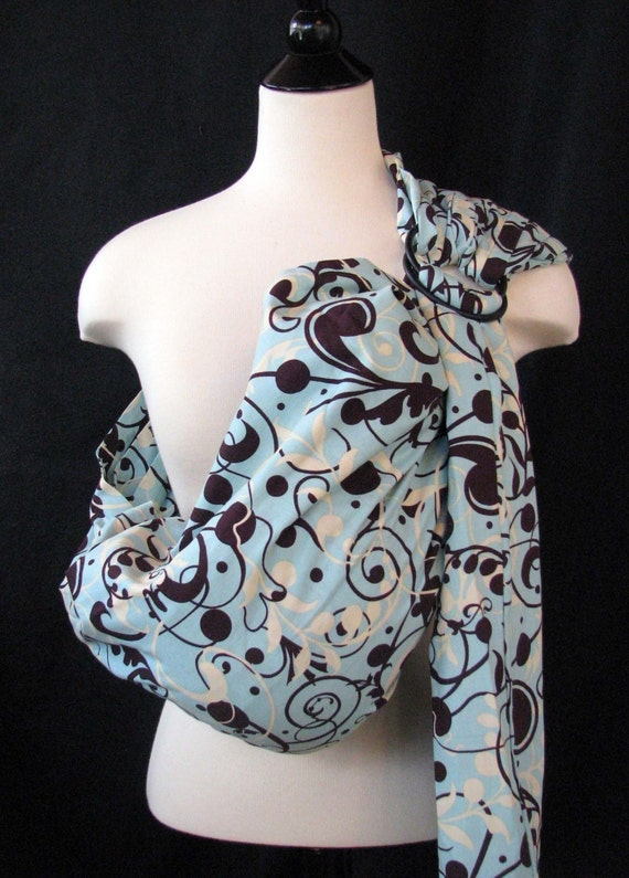 New Parent Ring Sling Baby Carrier Turquoise Dream - FAST SHIPPING