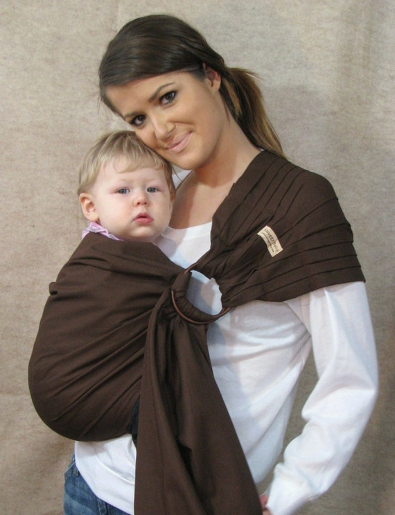 Baby Carrier Ring Sling Baby Sling - Chocolate Brown - FAST SHIPPING - Instructional DVD Included