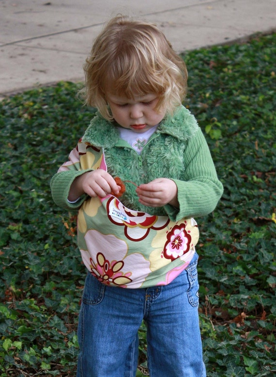 Baby Doll Sling Toy Pouch Sling Doll Carrier - Garden Party - FAST SHIPPING