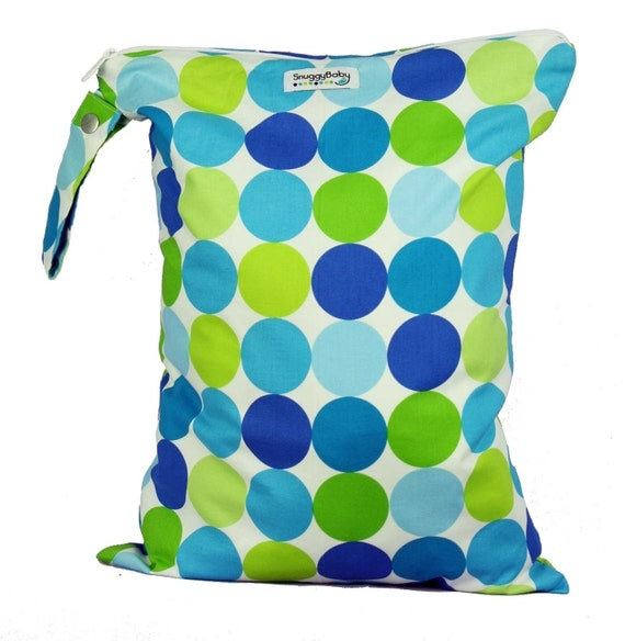 LARGE Zippered Wet Bag - Ocean Breeze- FAST SHIPPING