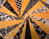 Quilt Fabric Charm Squares - Black and Yellow Fabric Quilt Squares - Sew Fun QuiltsTime Saver Kit -