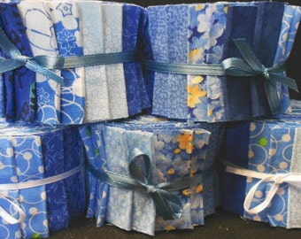 Blue Jelly Roll Quilt Fabric Strips -  Time Saver Quilt Kits by SEW FUN QUILTS