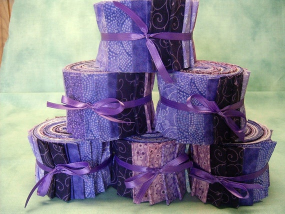 Purple Quilt Fabric Strips Purple Jelly Roll 2 1 2 Inch
