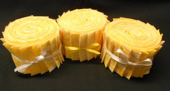 Yellow Quilt Fabric Jelly Roll Strips Sew Fun By Sewfunquilts