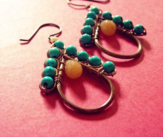 Gum Drop Earrings - Handmade with hypoallergenic ear-wires