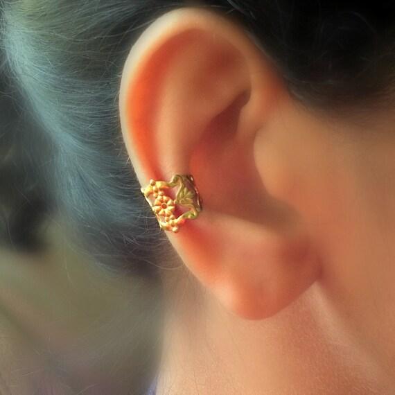 Filigree Brass Ear Cuff
