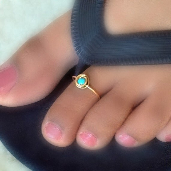 Cute Turquoise Toe Ring