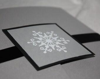 Snowflake Pocketfold Winter Wedding Invitation