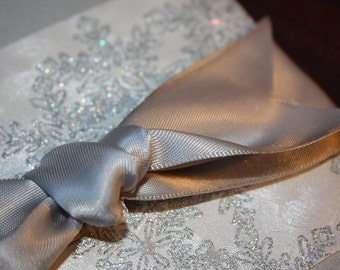 Embossed pocketfold winter wedding invitation