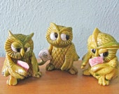Vintage Poker Playing Owls