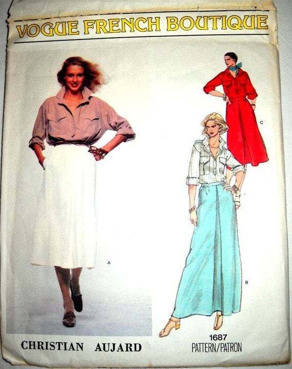 Vogue French Boutique Misses  Shirt and Skirt by Christian Aujard 1687