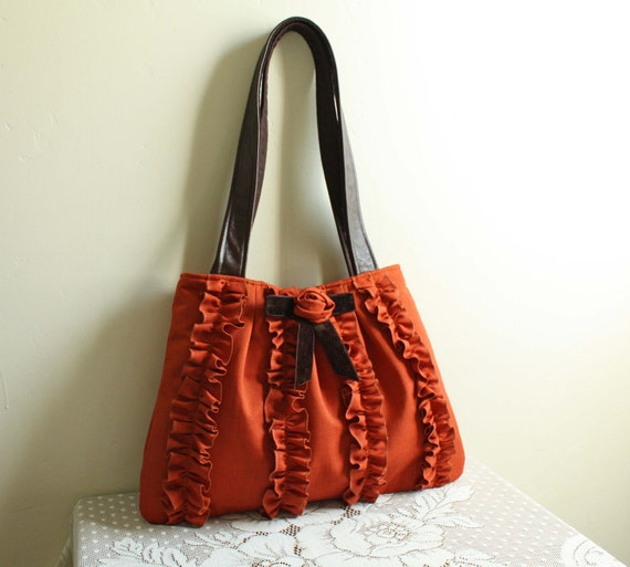 Gibson Hobo in Pumpkin/Brown--Ready to Ship--