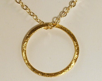 Gold Eternity Ring Necklace