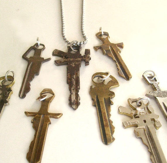 Sword/Gun Key Necklace