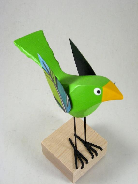 Fat  Lime Green Bird