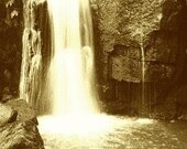 Lumsdale Valley Falls - A4 - digital lith print