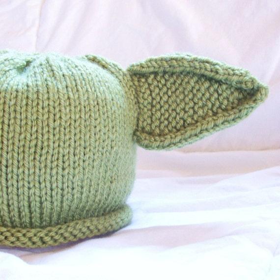 Baby Yoda Hat Knitting Pattern : Yoda Baby Hat