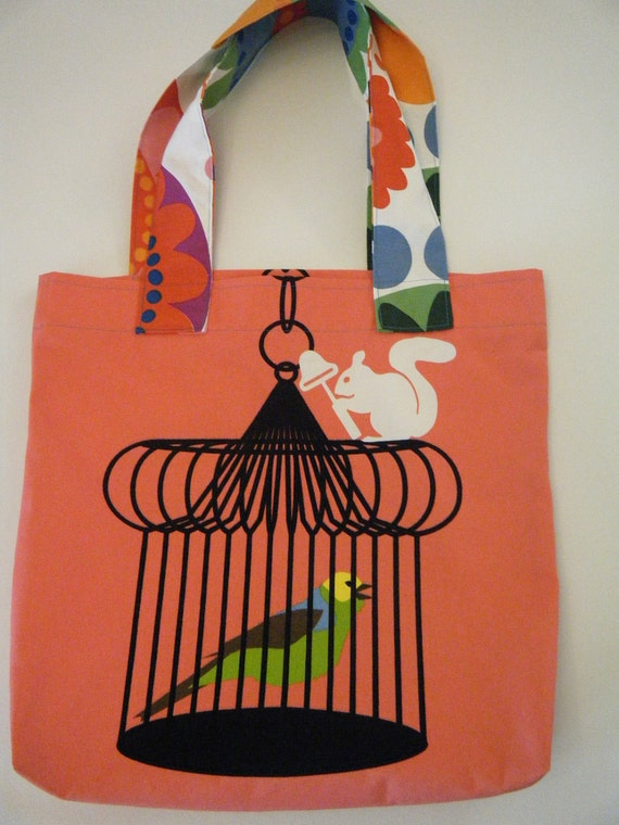 Canvas Tote Whimsicle Print